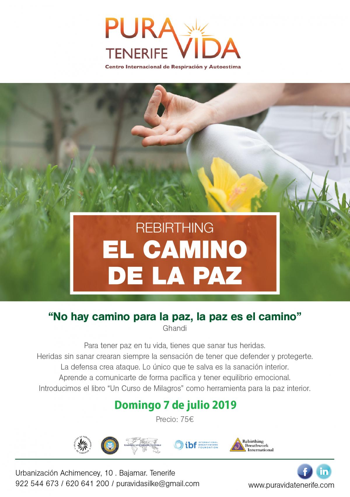 CURSO REBIRTHING EL CAMINO DE LA PAZ