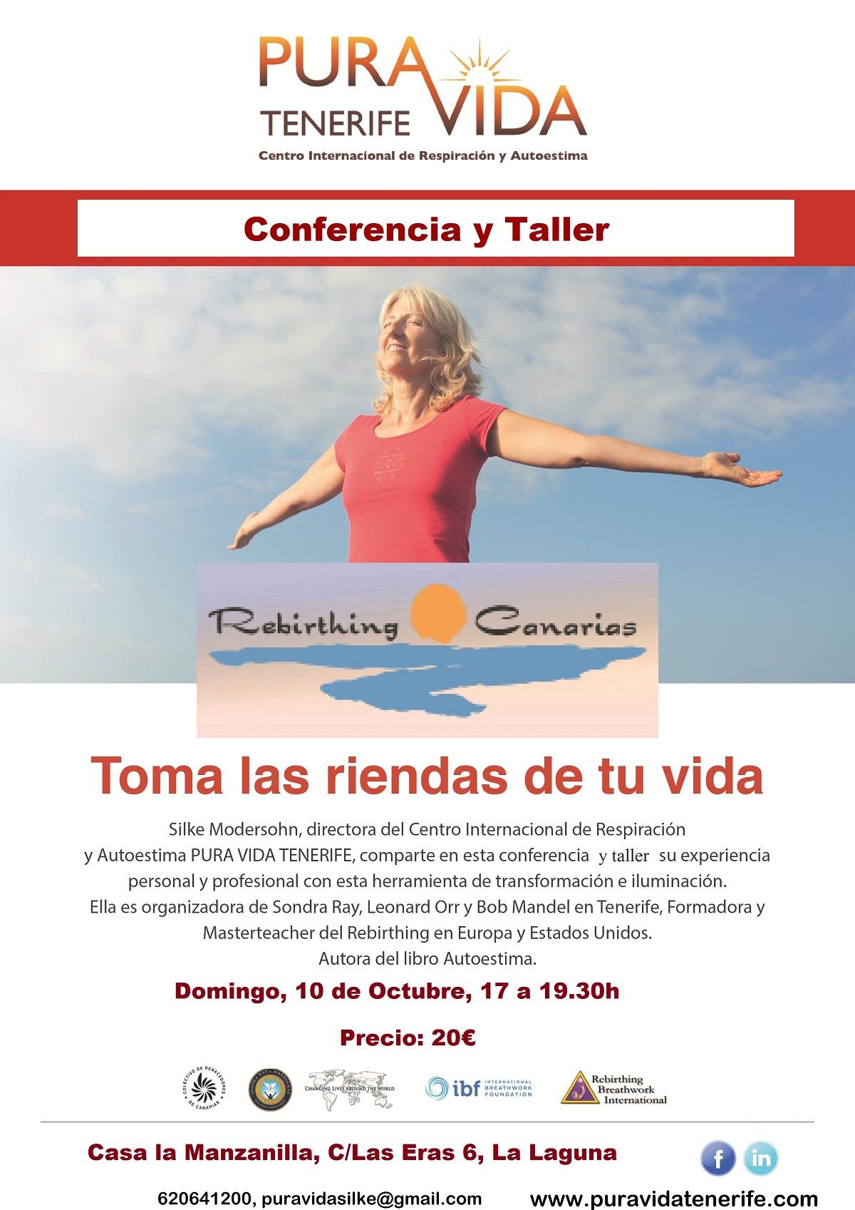 Conferencia / Taller «Toma las riendas de tu vida»